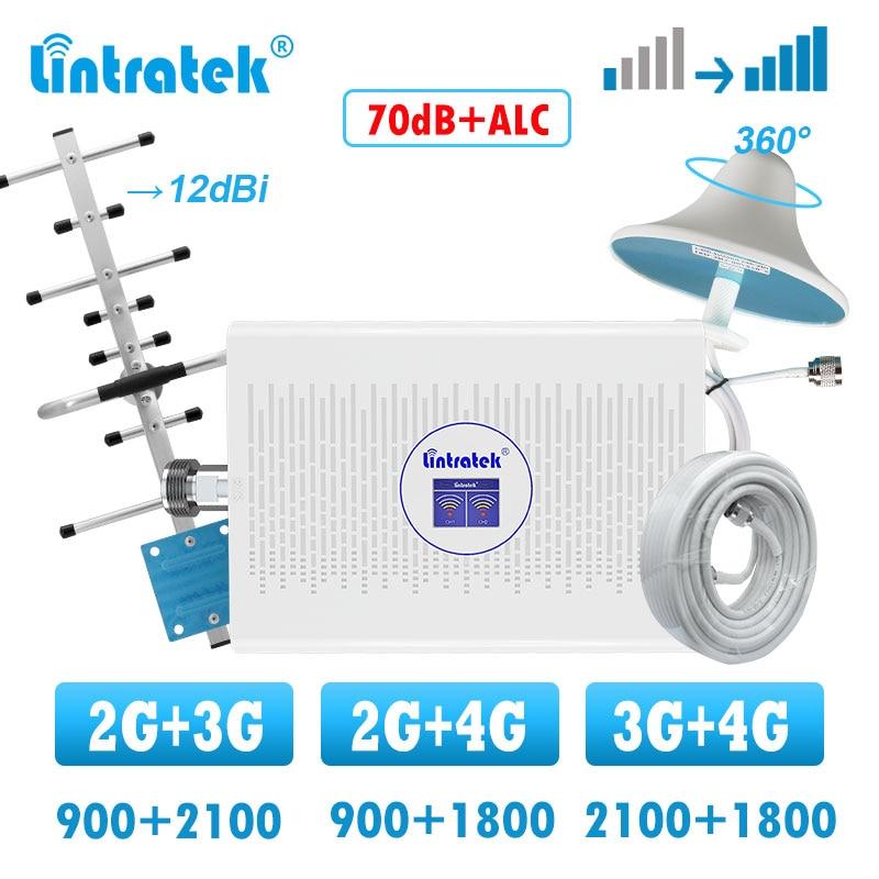Lintratek усилитель сотовой связи gsm 2g 3g 4g усилитель мобильного сигнала 1800 2100 двухдиапазонный усилитель GSM 900 антенна Яги комплект|Усилители сигнала|   | АлиЭкспресс