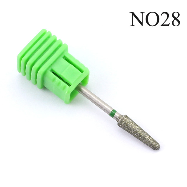 ERUIKA 28 Types Diamond Rotary Nail Drill Electric Milling Cutter Bits Cuticle Clean Burr for Manicure Machine Tools Nail Files 5