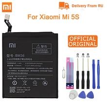 Xiao mi Original Replacement Battery BM36 For Xiaomi Mi 5S Cellphone Battery 3.85V 3100mAh Rechargeable batteries