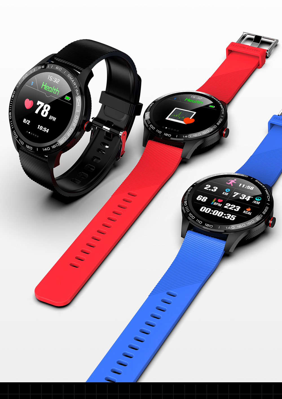 Hd365f712fb97444c9f806cafa005ad16h 696 L9 Full touch Smart Watch Men ECG+PPG Heart Rate Blood Pressure oxygen Monitor IP68 Waterproof Bluetooth Smart Bracelet