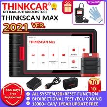 Thinkcar Thinkscan Max Tự Động OBD2 Công Cụ Chẩn Đoán Đầy Đủ Hệ Thống ECU Mã Hóa Điện Điều Khiển 28 Đặt Lại Ra Mắt