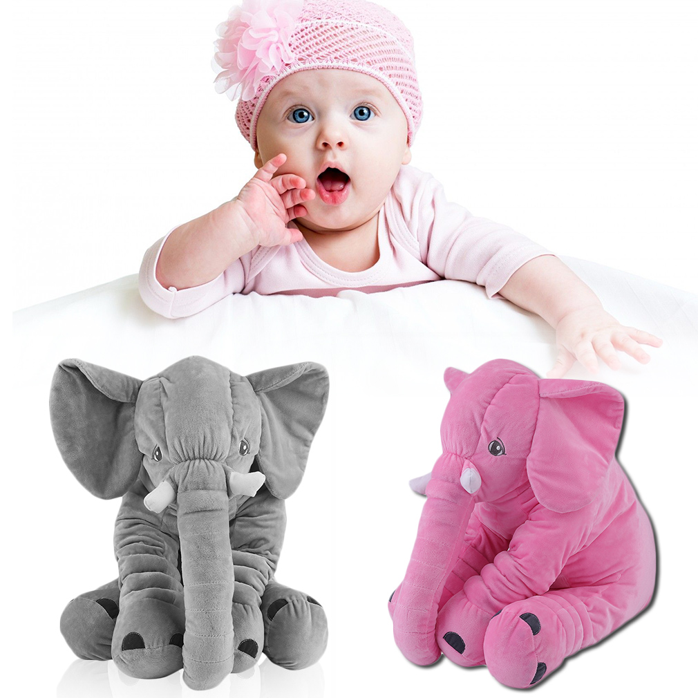 10-15 Days Ship To Russian 60CM Soft Elephant Animal Pillow Baby Plush Doll Toy Stuffed For Kids Sleeping Toys Christmas Gifts