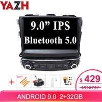 YAZH Android 9,0 Pie 9,0 pantalla IPS coche unidad reproductor para Kia Sorento 2013 2014 2015 con 1024*600 HD SWC/Carplay/Espejo enlace