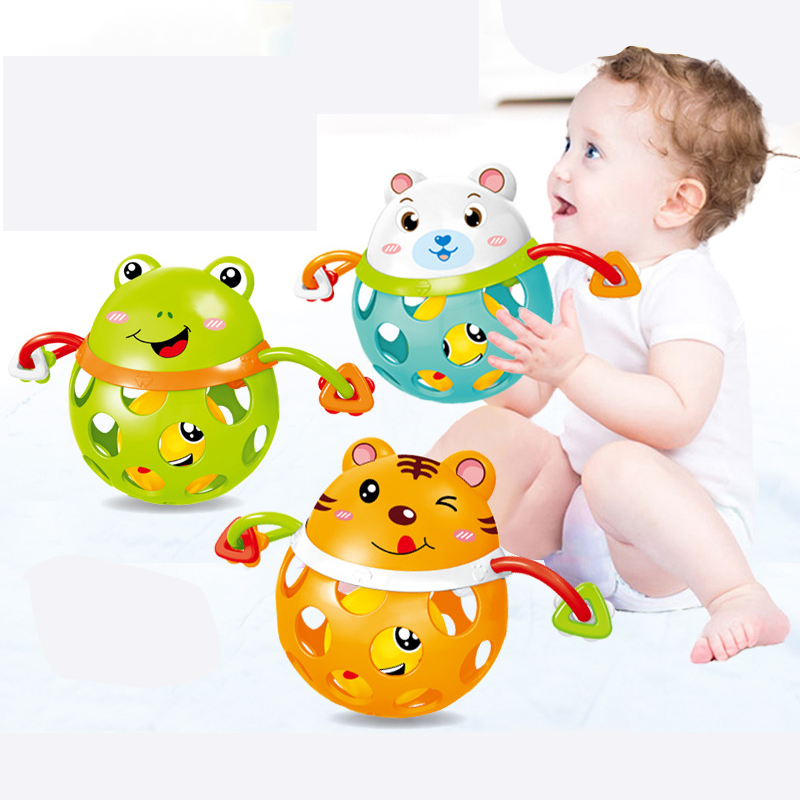 0-12Months Baby Rattles Toy Cars Soft Plastic Baby Teether Hand Grasping Ball Toys Rattle Early Educational Hand Bell Baby Toys
