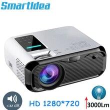 Smartldea 2019 새로운 720 p hd 미니 프로젝터, 네이티브 1280*720 3000 루멘 led 비디오 proyector 홈 시네마 휴대용 비머 hdmi