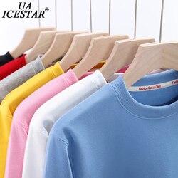 UAICESTAR Brand Cotton Spring Sweatshirt Men Oversized Solid Color Fleece Hoodies Woman Fashion Harajuku Couple Men's Hooded