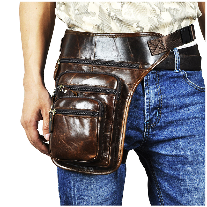 Quality Leather Men Design Coffee Casual 8