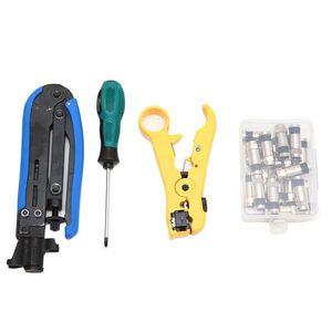 Image 3 - Coax Kabel Crimper Kit, Compression Tool Koax Kabel Crimper Kit, einstellbare Rg6 Rg59 Rg11 75 5 75 7 Koaxialkabel Stripper Mit
