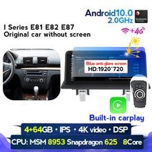 Radio Multimedia con GPS para coche, Radio con reproductor DVD, Android 10, 4 GB RAM, 64 GB ROM, navegador, Wifi, para BMW Serie 1, E81, E82, E87, E88, I20, 2003 2012