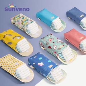 Sunveno Multifunctional Baby Diaper Organizer Reusable Waterproof Fashion Prints Wet/Dry Bag Mummy Storage Bag Travel Nappy Bag