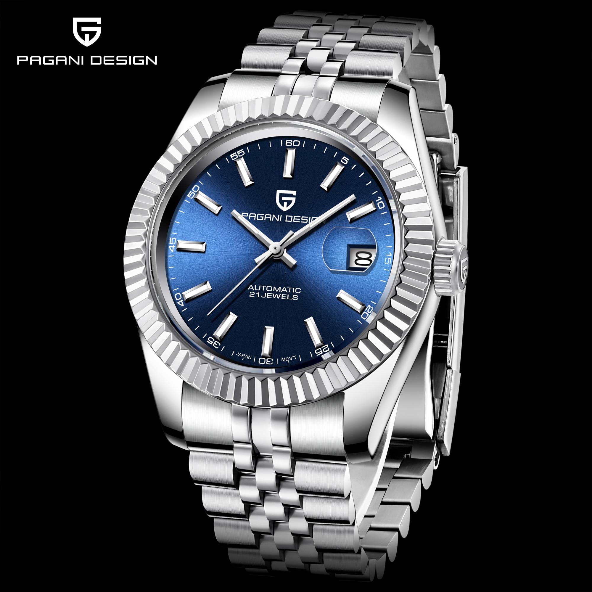 PAGANI DESIGN 2019 nouveaux hommes Top luxe montres mécaniques hommes mode entièrement en acier étanche automatique Montre horloge Montre Homme - 2