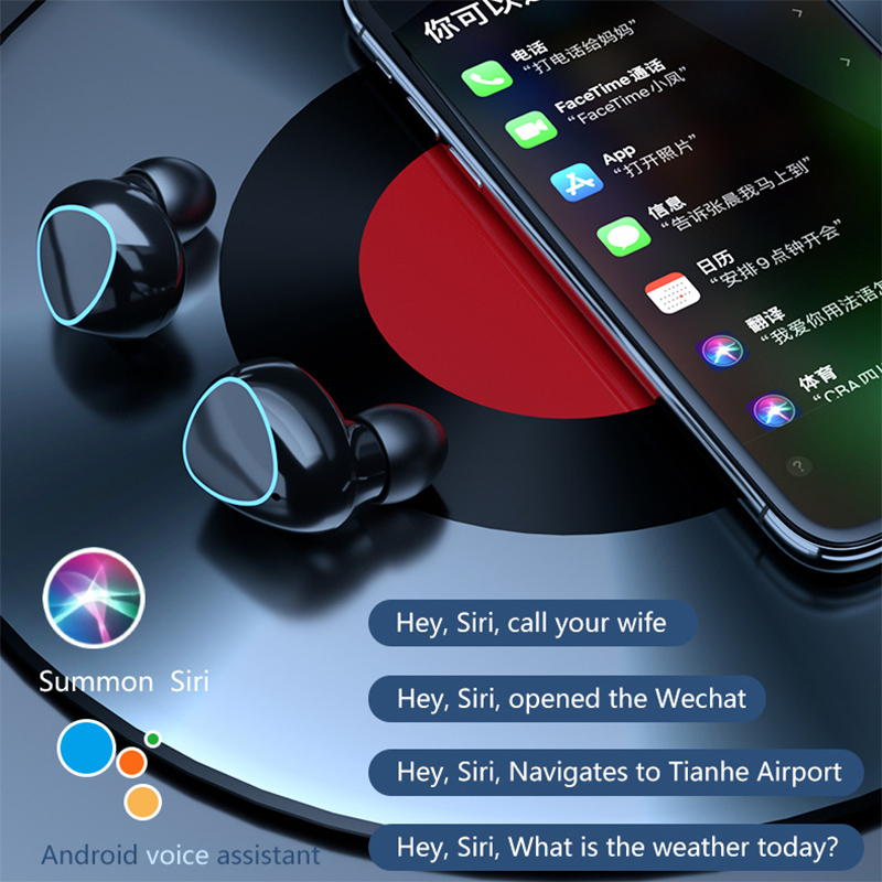 TWS Bluetooth 5.1 Earphones Charging Box Wireless Headphone 9D Stereo Sports Waterproof Earbuds Headsets With Microphone 6