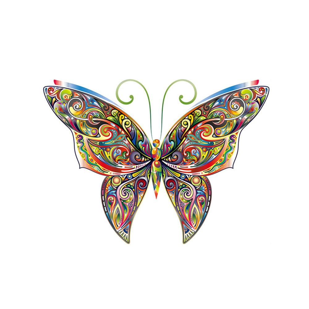 Colorful Butterfly Wall StickerCreative Multicolor Butterflies Wallpaper Bedroom Living Room Background Decoration Home Stickers