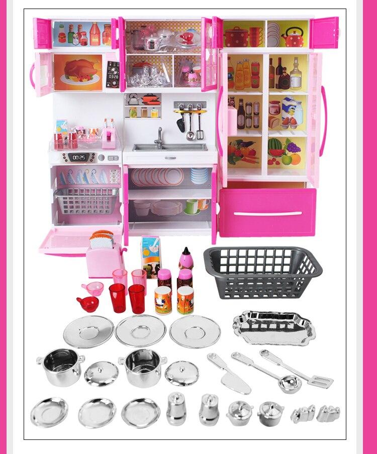 ola kitty brinquedo da cozinha jogar casa simulacao utensilios de cozinha mini cozinha microondas geladeira forno