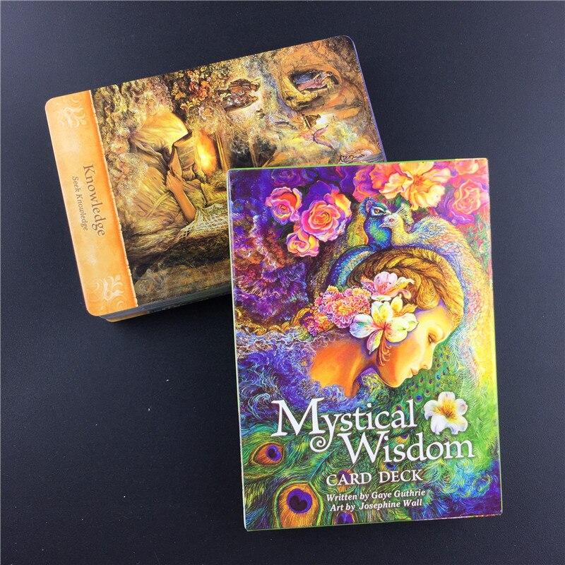 Jogos de tabuleiro da plataforma dos cartões do tarô do cartão do oráculo da sabedoria mística para os amantes do jogo dos cartões de mesa do divertimento dos adolescentes da família da festa