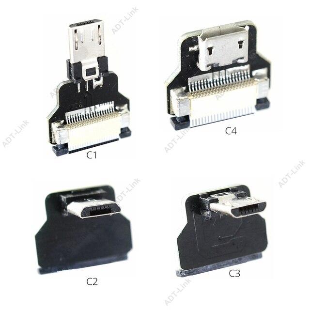 Monitor fpv standardowy Mini USB Super płaski elastyczny kabel ładujący FPC 90 stopni Micro USB kabel taśmowy przewód wyjściowy AV OTG 5V 3A