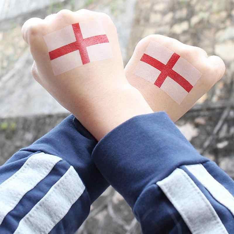 Imperméable à l'eau des équipes de pays autocollants Football autocollants drapeau tatouage autocollants sur le visage bras combinaison aléatoire temporaire tatouage Sticke