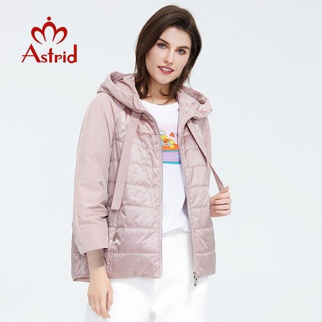 Astrid 2020 printemps manteau femmes Outwear tendance veste courte Parkas décontracté mode femme de haute qualité chaud mince coton ZM-8601 3