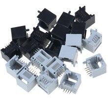 10 pièces/lot RJ45 8P8C ordinateur réseau Internet PCB prise Jack