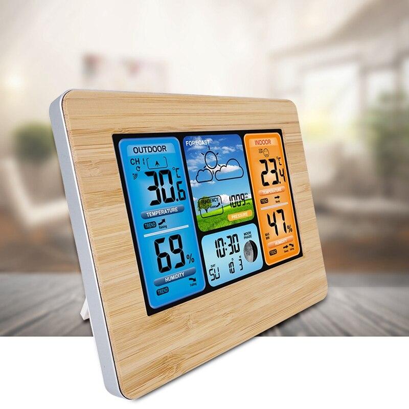 Новая цифровая метеостанция, термометр, гигрометр, барометр, беспроводной и датчик, ЖК-монитор, погода для внутреннего и наружного использо...