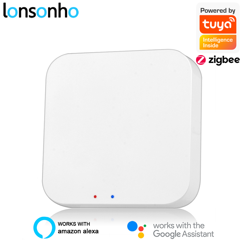 Lonsonho Tuya Zigbee Hub Wireless Smart Life App Wifi Remote Control For Smart Home House Alexa Google Home Mini Compatible