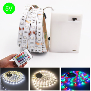 1-5M RGB LED Strip Battery Operated SMD 2835 led Tape Lights For TV Backlight lighting LED Night light Bed Cabinet Stairs light