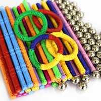 2019 Magnetic Designer Building Blocks DIY Magnet Sticks & Metal Balls Playing Magnetic Toy Bricks For for children Kids