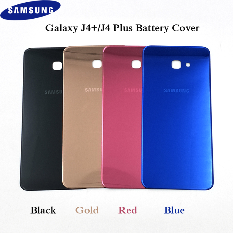 Battery Plastic Back Cover For Original Samsung Galaxy J4 + J4 Plus Door Housing Protective Replacement Parts With Logo 6 Inch