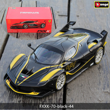 цена на Bburago 1:18 Ferrari FXXK Black 44 car alloy car model simulation car decoration collection gift toy Die casting model boy toy