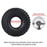 "INJORA Metal 1.9"" Beadlock Wheel Rims 3 Style for 1:10 RC Crawler Car Axial SCX10 90046 Traxxas TRX4 Redcat GEN8 2"