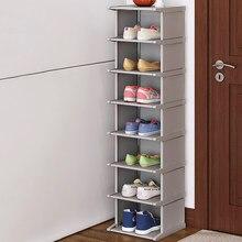 Armário modular da sapata da mobília do armário do organizador da sapata da entrada do corredor da economia de espaço vertical do canto da cremalheira da sapata