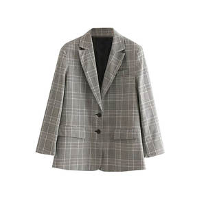 Jacket Suit Long-Sleeve American-Style Autumn Women's And Pattern Mid-Length-Suit Loose-Fit