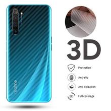 9D zakrzywiona przezroczysta osłona ekranu światłowodowego dla OPPO Realme X50 5G 7 6 5 Pro tylna folia pełna pokrywa C2 Q 5 X2 6 Pro XT Narzo 10 tanie tanio MANLIFU Matte CN (pochodzenie) Powrót film Soft 3D Carbon Fiber Transparent For Oppo Realme Series