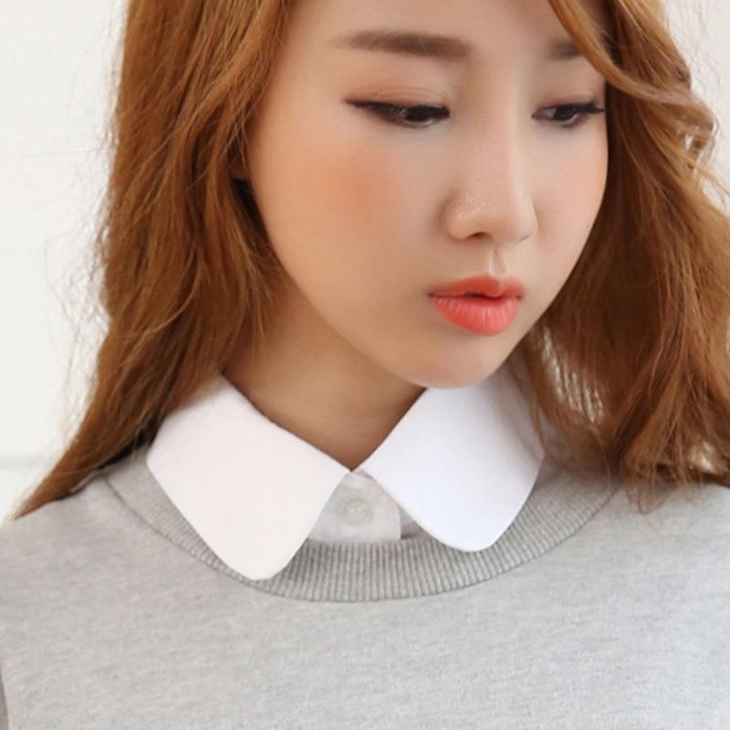 Women Shirt False Collars Blouse Vintage Detachable Clothes Accessories Half Shirt Detachable Female Blouse Fake Collar Top