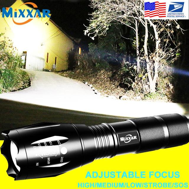 ZK60 Q250 TL360 LED Tactical Flashlight Torch Zoomable 5 Mode Water Resistant Handheld Light 18650 AAA Best for Camping 1