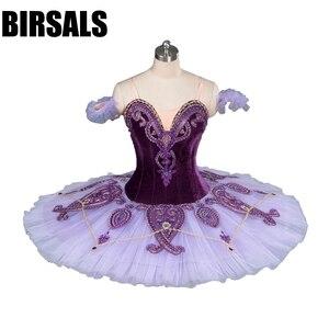Image 1 - Kadın klasik kostüm Tutu bale dans profesyonel bale Tutu kostümleri tabağı rekabet bale Tutu mor BT9085