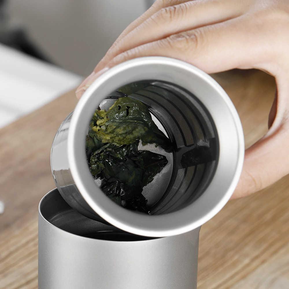 티타늄 메쉬 차 주입기 바구니 필터 주전자 차 주전자 컵 캠핑 하이킹 차 주입기에 대 한 야외 식기