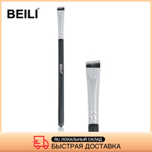 BEILI Black/Pink Makeup Brushes Professional Single Thin Eyebrow Brush Eyeliner Eyelash Foundation Make up Brushes Beauty Tool