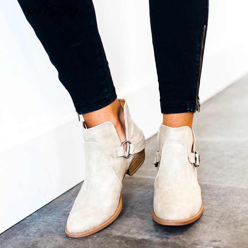 ผู้หญิงรองเท้าหนังแท้คอสแซครองเท้าผู้หญิง Plus ขนาดข้อเท้ารองเท้าสำหรับรองเท้าผู้หญิงรองเท้าคาวบอยหญิง kazaki botas mujer
