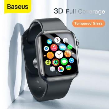 Cristal Protector fino Baseus 0,23mm para Apple Watch 1 2 3 4 5 3D cobertura completa vidrio templado para iWatch 4 3 2 Protector de pantalla