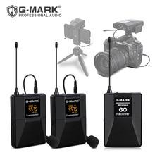 G-MARK Wireless GO ASMR Microphone Lavalier Mic For Camera Phone DSLR Camcorder YouTube Facebook Live Vlog Recording