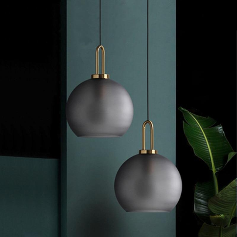 Vintage Postmodern Nordic Pendant Lights Creative Suspended Glass Jar Hanging Lamp Dining Room Restaurant Bar Pendant Light
