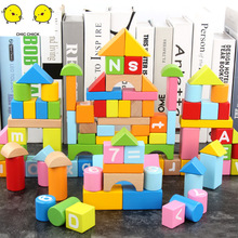 100pcs beech wooden barrel alphanumeric building blocks children's educational toys children birthday gift candywood high quality beech wooden colourful blocks kids educational learning right angle building blocks for children toys new