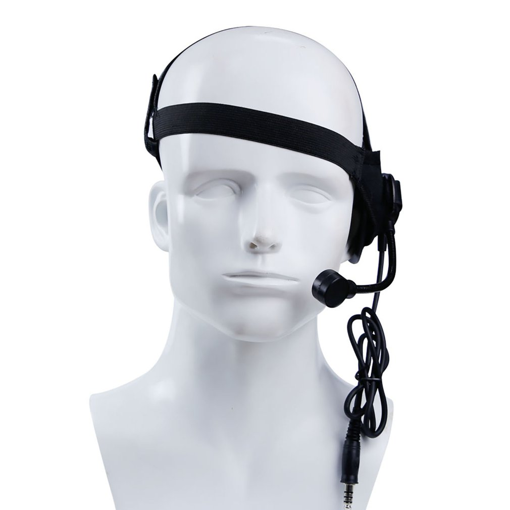 WoSport Tactical HD02 Round Edge Headset U94 Style PTT For ICom Kenwood Midland Motorola