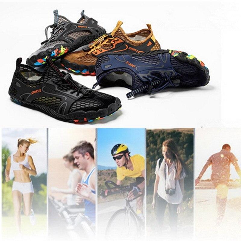 Men Elastic Breathable Beach Upstream Shoes Nonslip Climbing Trekking Footwear Water Sports Shoes Outdoor Quick Dry Aqua Shoes