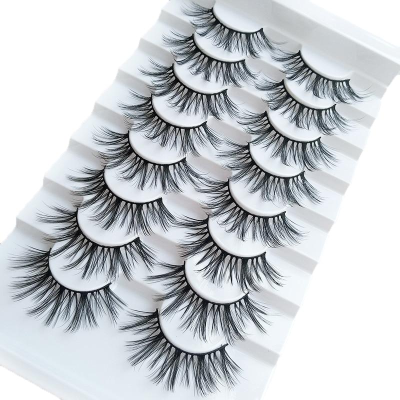 5/8 Pairs 3D Mink Eyelashes 3D Natural False Eyelashes 3d Soft Mink Eyelashes Extension Makeup Kit