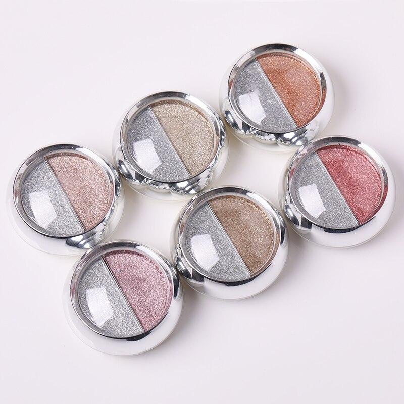 Двухцветный зеркальный порошок в наборе, металлический эффект, блеск для ногтевого дизайна, УФ Гель-лак, Хромовая пыль, розовое золото, сере...