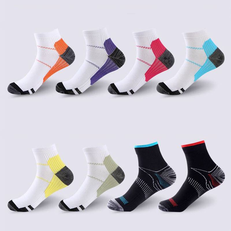 Men Women Compression Socks Plantar Fascia Arch Support Running Sports Ankle High Socks Unisex Elastic Calcetines Sox S-L