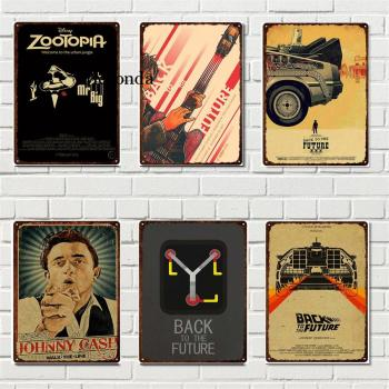 Classical Movie Plate Vintage Metal Plaque Back To Future Tin Sign Poster Home Club Bar Cinema Decor Plate