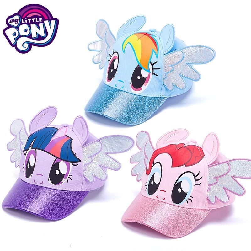 Детская кепка Hasbro My Little Pony, бейсбольная кепка с рисунками из аниме, 52 см, цельная Кепка, кепка для девочек